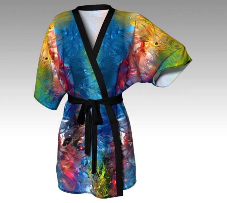 6b3826d64127c Kimono Robe Draped Kimono Dressing Gown Spa Robe Beach | Etsy
