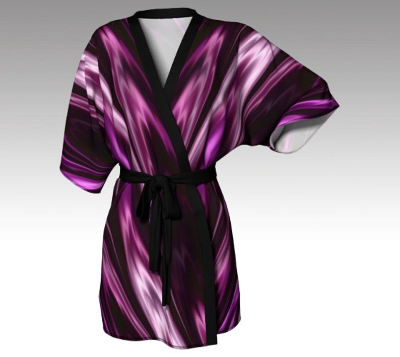 1900c5f765440 Kimono Robe Draped Kimono Dressing Gown Purple Robe Spa | Etsy