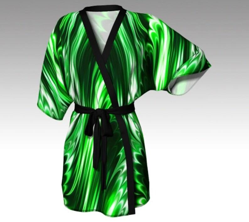 f788fde23634e Kimono Robe Draped Kimono Dressing Gown Green Robe Beach | Etsy