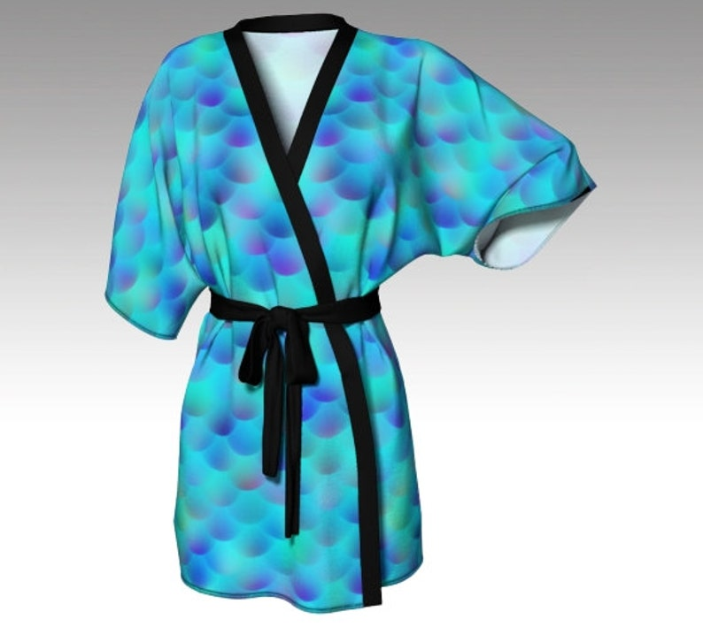 c966bdf2930c6 Kimono Robe Draped Kimono Dressing Gown Mermaid Robe Beach | Etsy