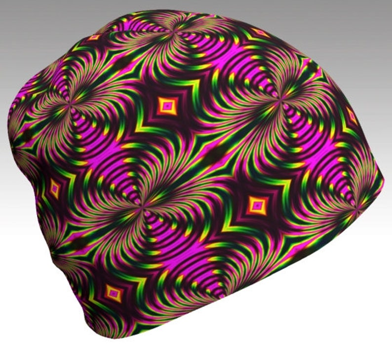 c1f24a37ec473 Psychedelic Beanie Psy Hat Gypsy Hat Tribal Beanie Sacred