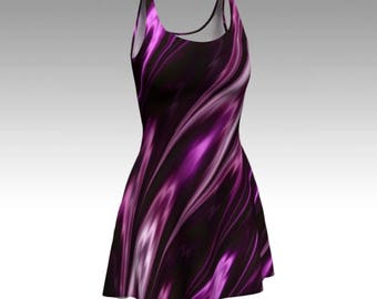 Purple Dress, Amethyst Dress, Flare Dress, Skater Dress, Fit and Flare Dress, Bodycon Dress, Fitted Dress, Swirl Dress, Gemstone Dress, Cool