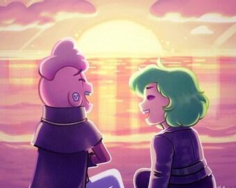 """Lars & Sadie - 5x7"""" Print"""