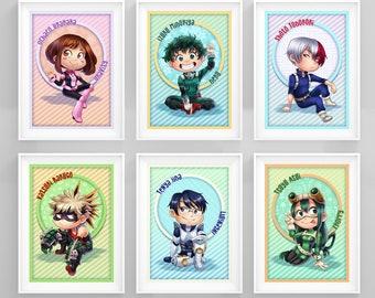 """My Hero Academia 5x7"""" Prints"""