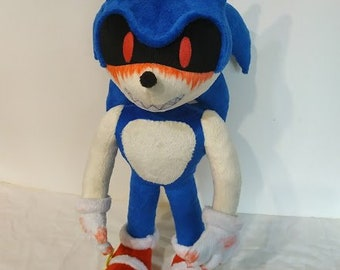 Custom Plush Inspired By The Sonic E X E Plush Toy 45 Cm 17 Etsy