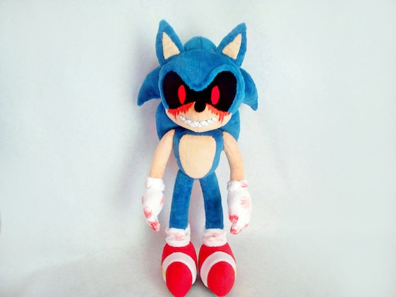 Custom Plush Inspired By The Sonic E X E Plush Toy 45 Cm 17 Etsy