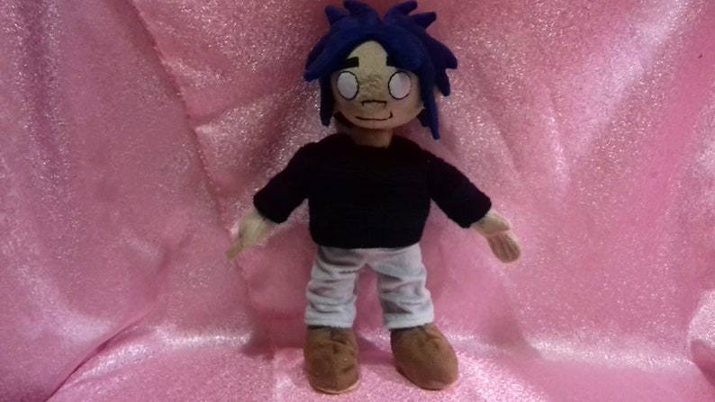 Inspired by  Gorillaz plush commissioned plush Toy made from drawing toy from music video stuffed custom toy