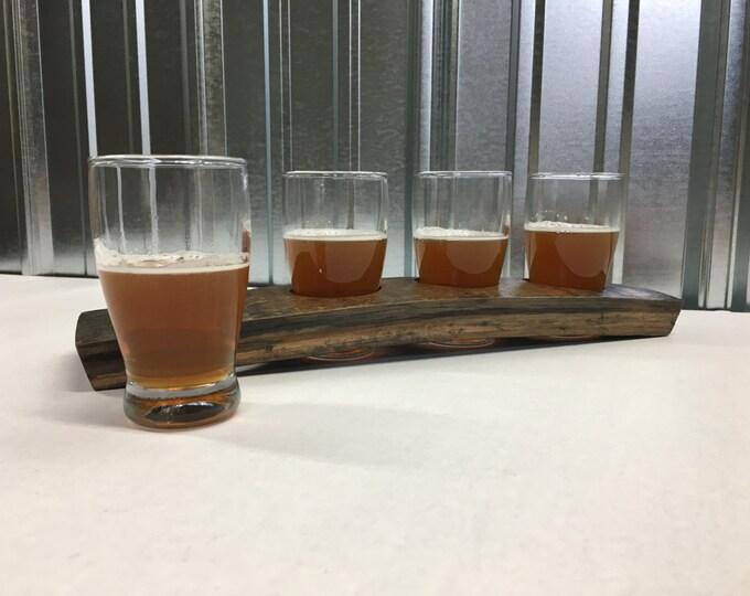 Featured listing image: Beer Flight Set made of Oak Barrel Stave