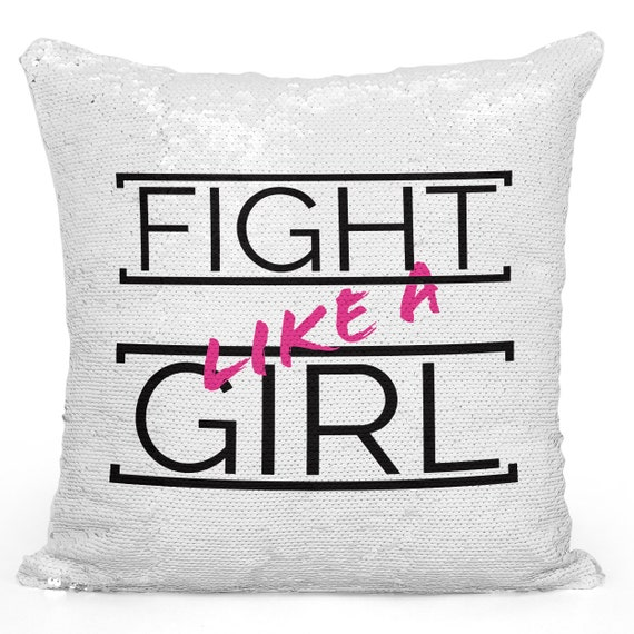 Decorative throw pillows fight like a girl modern home decor  9b146b2c24