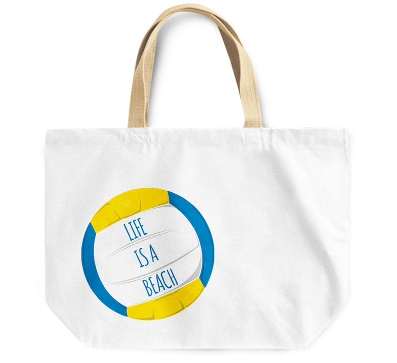 Fun Life is a beach canvas like tote bag lifeguard best friend coworker parent sibling beach lover gift overnight beach travel gym bag