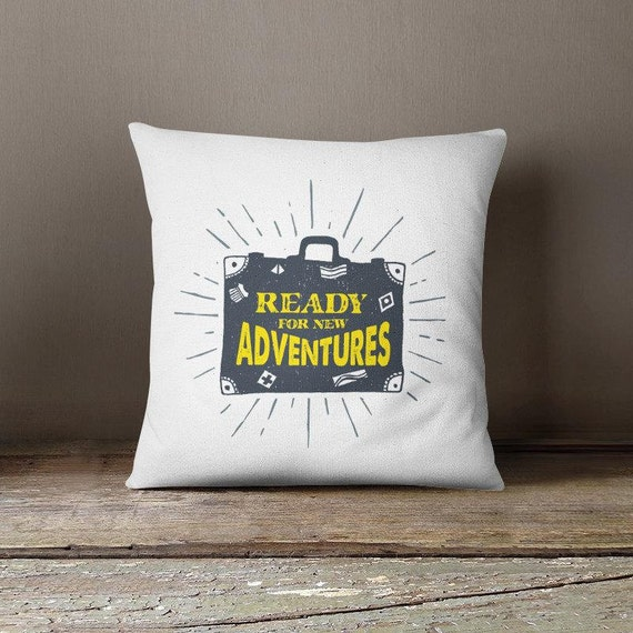 Throw Pillow Cover New Adventure Lovers Outdoor Accent Pillow Etsy
