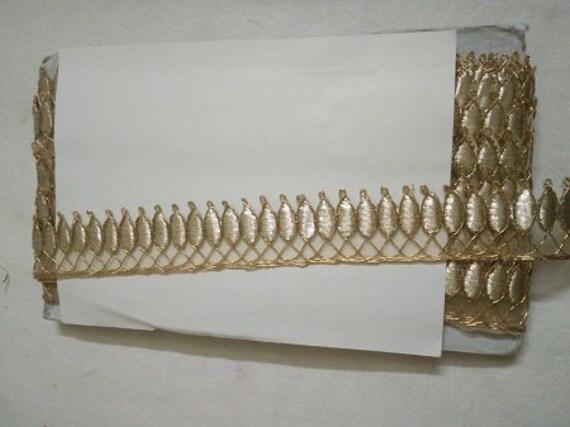 Belle lumière dorée Gota travail de de travail coupe lacets 10 verges 7472e1