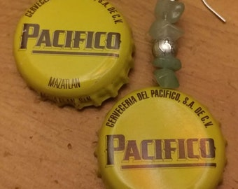 Pacifico Bottle Cap Earrings
