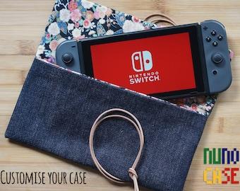 Raw Denim & Leather Nintendo Switch Case
