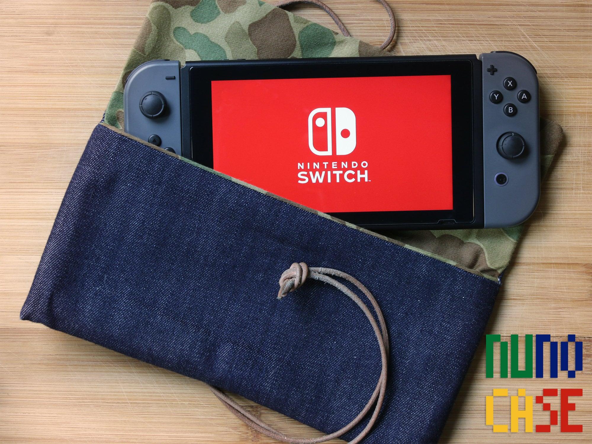 Raw Denim & Leather Nintendo Switch Case Camo Lined | Etsy