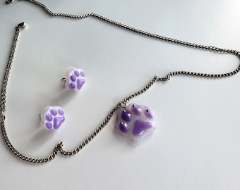 Kitty Love | Paw Earrings and Pendants