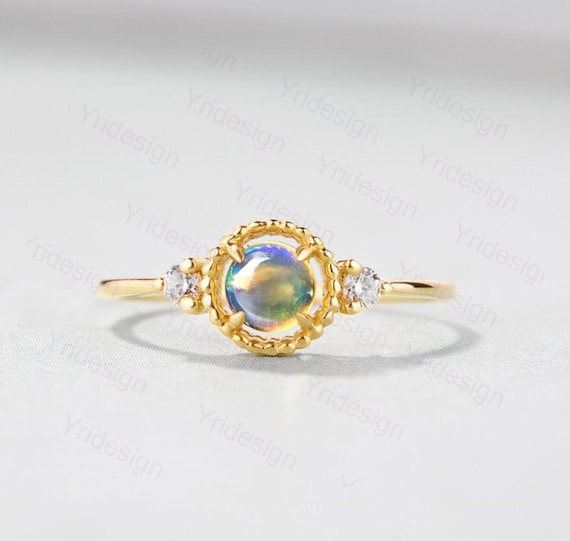 Tanzanite Marquise Simulé Diamants blue fire opal Sterling Silver Ring