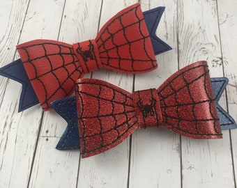 2b278ec56729 Spider Man Inspired Bow Tie and Hair Bow