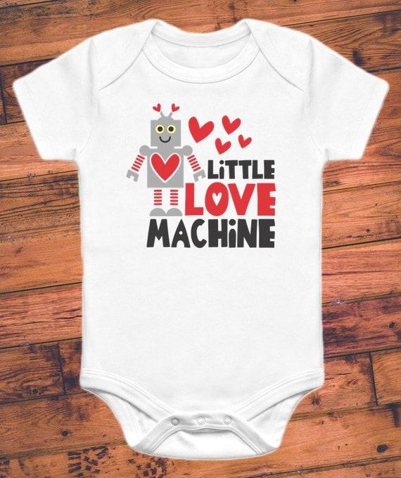 2bdf68355 Little Love Machine Robot Valentine's Funny Baby | Etsy