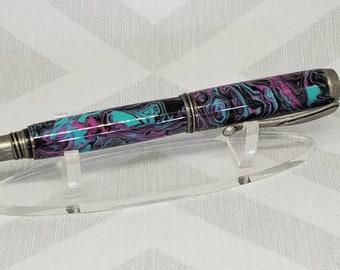 Antique Silver Fountain Pen/Rollerball Pen