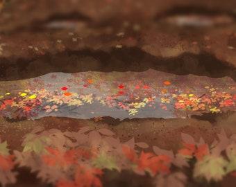 "Autumn Puddles 2"" x 6"" Bookmark"
