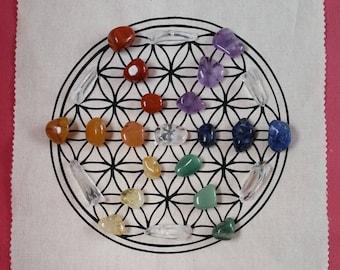 Crystal Grid Set - Chakra / Rainbow