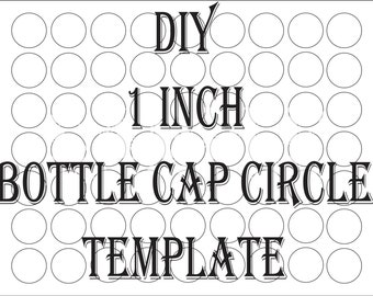 bottle cap template etsy