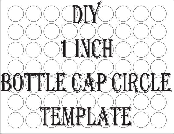 Blank Bottle Cap Circle Template Printable 4 File DIY 1