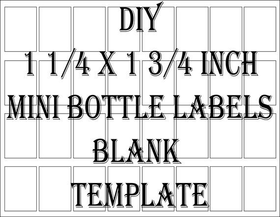 mini liquor bottle label template printable 4 files 32 diy 1 etsy
