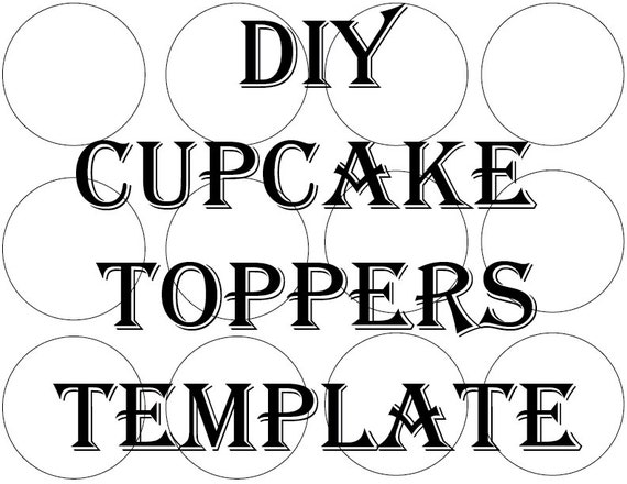 SVG Blank Cupcake Topper Template Printable DIY 2 1/2 | Etsy