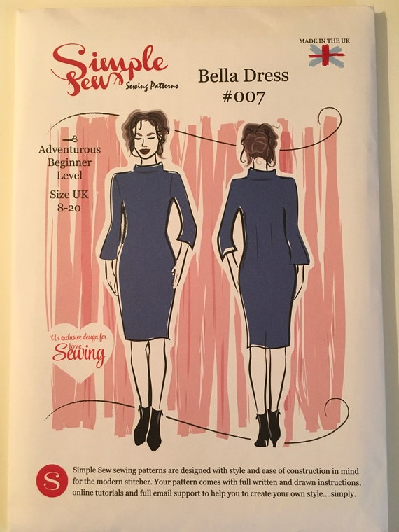 Simple Sew Bella Dress 007 Size 8-20 New and Unused