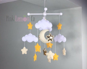 moon and stars baby mobile stars baby mobile cloud baby mobiles nursery decor star nursery decor