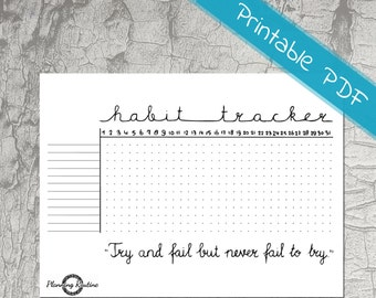 Habit Tracker Printable, Daily Habits Planner, Planner Stickers, Printable PDF