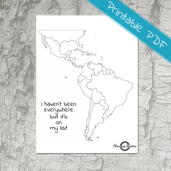 Latin America Planner Stickers Map of South America Map of | Etsy
