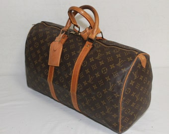 72cd6d290c803 Authentic LOUIS VUITTON Monogram Keepall 45 Carry-On Travel bag - (ref 7742)