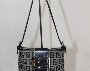 ... reduced 100 authentic pre owned fendi zucca monogram leather canvas  micro handbag made in italy r1206 7bfa5eb3aa153