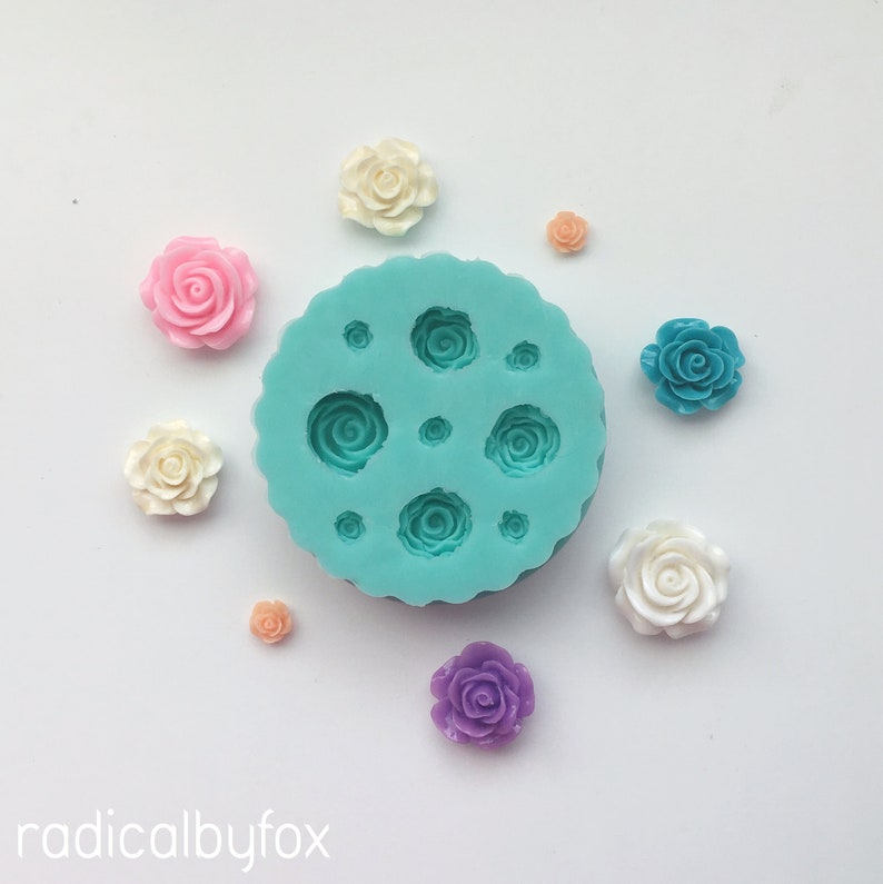 Flower Resin Crafting Kawaii Cabochons /& Flatbacks Roses Silicone Mold Decoden and Charms