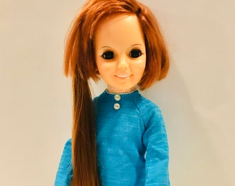 "Brandi 70s Vtg Mod Dress Doll Pattern ~ 17/"" 18/"" Beautiful Crissy Tressy Kerry"