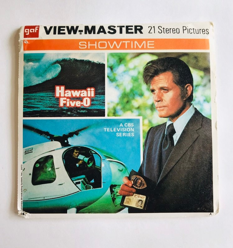 Hawaii Five-O GAF Viewmaster B 590 Complete 3 Reels With Booklet 1973