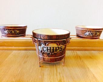 Chip and Dip // Ye Old Oak Bucket-Ware// VINTAGE