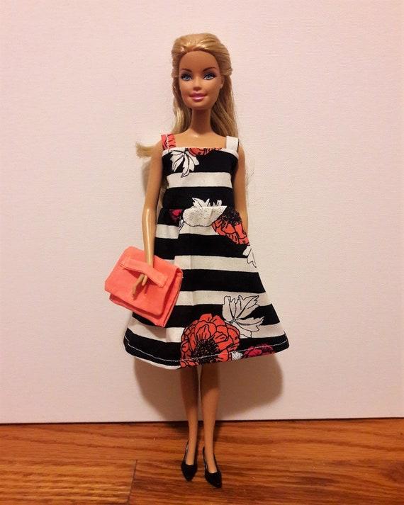 NEW Barbie Fashionista Doll Coral Quilted Look Bag Handbag Purse Clutch 1
