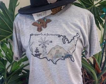 ag tee agriculture gift farm shirt Agriculture T-shirt farmers wife gift farm tee dairy farmer farm t-shirt Thank A Farmer T-shirt