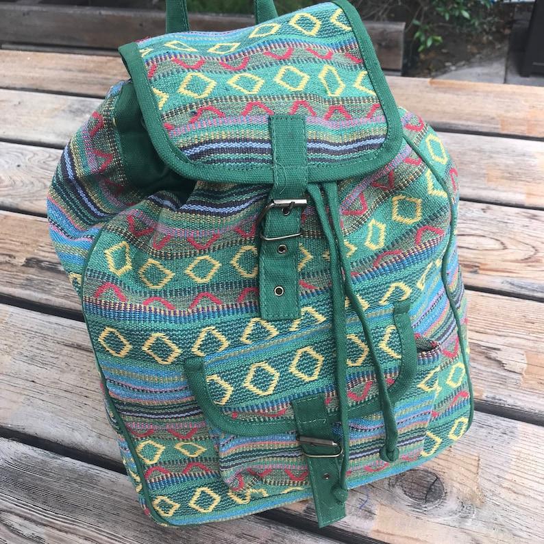 Women Rucksack Tribal backpack Boho backpack Medium backpack Ethnic backpack Bag Woven Bag 90s Backpack Festival Bag Women backpack