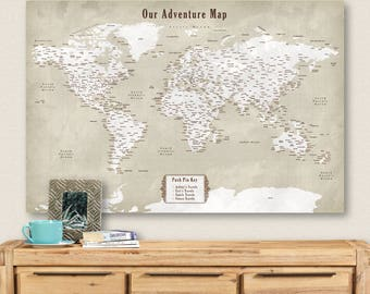 World map cork board | Etsy