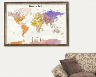 Push pin world travel map with states push pin world map push pin world travel map with states push pin world map framed push pin world map gumiabroncs Choice Image