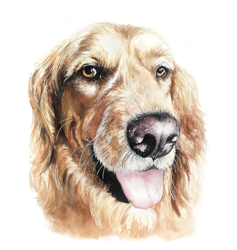 Custom Watercolor Pet Portrait  Dog Portrait  Cat Portrait  image 0