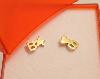 Gold earrings for Barbara or Beatrice or Bianca
