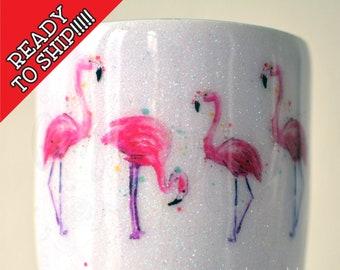 READY to SHIP! 30oz Flamingo Beach Tumbler, RTS, The Beach Is Calling and I Must Go, Tropical Tumbler, Surprise Tumbler, Flamingo Birthday