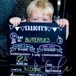 DOUBLE SIDED Personalized Back-to-School chalkboard signs! First and Last Day School Sign. Milestone sign, Kindergarten, Growth, Chalkboard,
