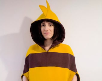 Undertale Monster Kid inspired cosplay poncho hoodie